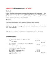 HW_8 Current Liabilities with solution