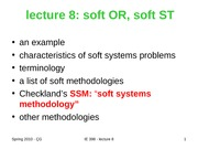 lecture 8-2010 soft OR-ST