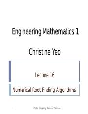 Math 1 lect16 - Numerical Root Finding Algorithms.ppt