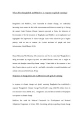 What affect Bangladesh and Maldives in response to global warming.docx