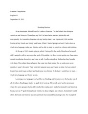 Breaking Barriers essay