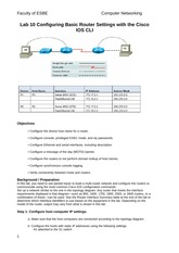 Lab 10 Configuring Basic Router Settings with the Cisco IOS CLI (2)