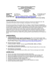 Syllabus - FIN3318 Section 251 Spring 2014