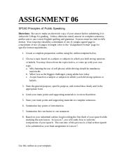 SP180 Assignment 6