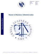 Master of Business Administration SEND