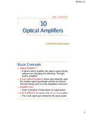10 - Optical Amplifiers