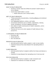 HP-300 Exam 1 Study Guide