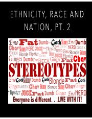 Ethnicity, Race and Nation Pt 2 Spring 2017