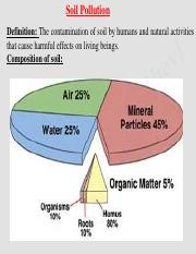 soil pollution, thermal pollution