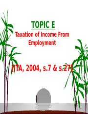 TOPIC E-Taxation of Income from Employment.ppt