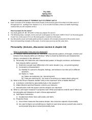 Personality Study Guide