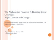 2---The Afghanistan Financial & Banking Sector Overview