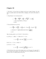 PHY2049 Chapter 30 Solutions