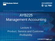 AYB  225 Lecture 9