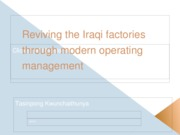 Reviving the Iraqi factories through modern operating management (1)