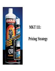 MKT 111 Pricing Strategy (2016).pptx