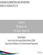 Lecture 3 - the source and the sensor