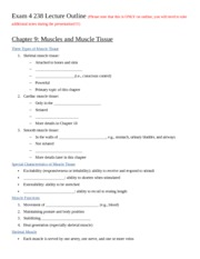 Exam 4 238 Lecture Outline Ch 9