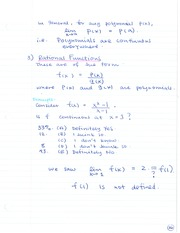 CHE 120 Rational Functions Notes