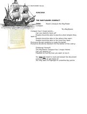 Course Hero The Mayflower Compact Primary Doc.odt
