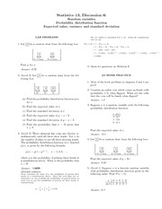 Practice Problems 6 Solutions