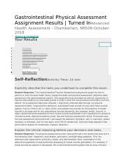 Gastrointestinal Physical Assessment - Self-Reflection.docx