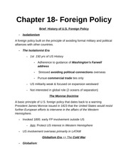 History of U.S. Foreign Policy Notes