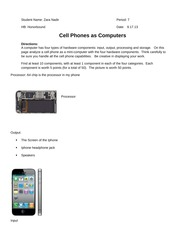 Cell Phone Assignment
