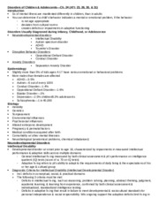 Disorders of Kids & Teens-Ch. 24&25.docx