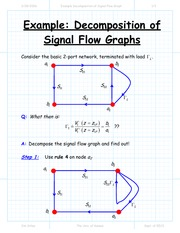 Example Decomposition of Signal Flow Graph