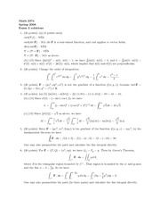 Exam 2 Solution Spring 2008on Multivariable Calculus