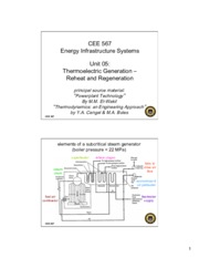 Lecture5 Reheat and Regeneration for Energy Infrastructual system