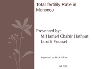 Total fertility Rate in Morocco final