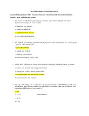 Correct Answer D Your Answer When Several Alternative Investment Proposals Of Course Hero