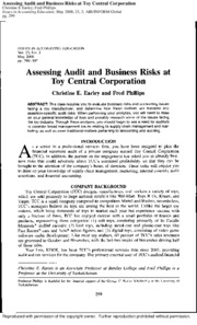 Assessing Audit Risk at Toy Central-1