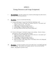 AP Human Geography energy resources report.docx