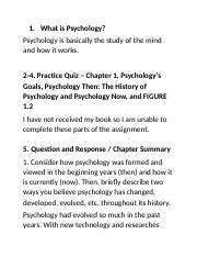 Assignment 1 Psychology