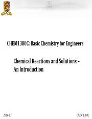 CHEM1380C_PPT5- Chemical Reactions_Introduction_2016-17