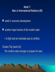 Week 07 (Wars- Realism)(IVLE)b.ppt