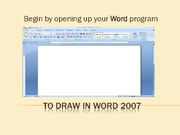 Drawing in Word 2007