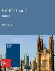 FINC6013 WEEK1 Lecture 1 Intro & FX quotation I(2)