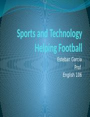 Sports and Technology Helping Football