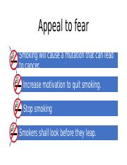 Appeal to fear
