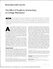 The effect of academic scholarships on college attendance - ProQuest