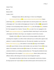Metaphor essay criticism