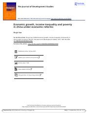 Economic growth income inequality and poverty in china under economic reforms (1).pdf