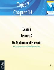 Topic 8 Lecture 7 Ch 14 Leases 1 new