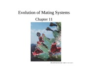 Chapter 11-Evolution of Mating Systems