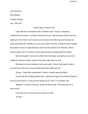 Violets Story: Chapter Two-Creative Writing