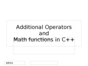 Additional Operator_Format